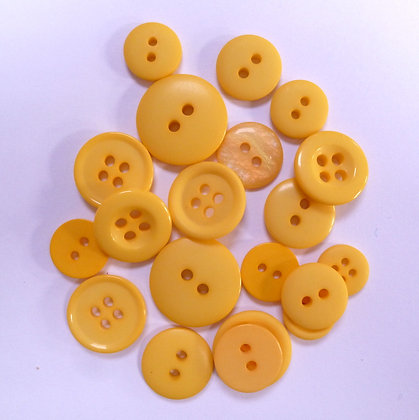 Dyed Pick & Mix Buttons :: Yellow