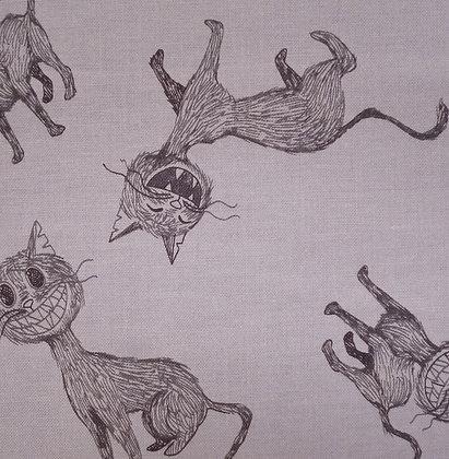 Fabric :: Scaredy Cat :: Grey