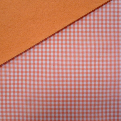 Fabric Felt :: Wide Peach Gingham on Peach