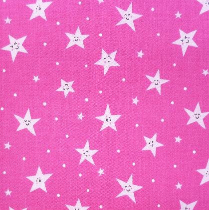 Fabric :: Goodnight Stars :: Bright Pink
