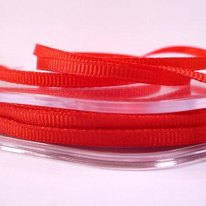 3mm Mini Grosgrain Ribbon (5 metres) :: Red