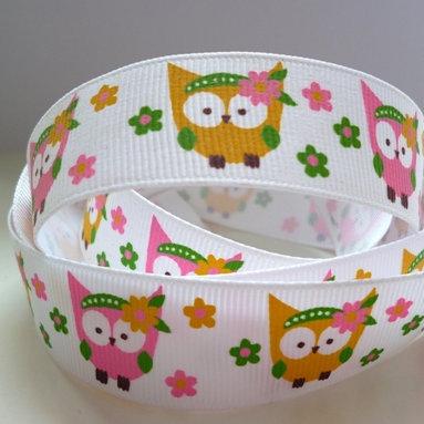 Cute Grosgrain Ribbon :: Summer Owls