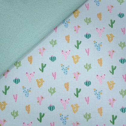 Fabric Felt :: Ocean Drive :: Cactus on Pale Mint