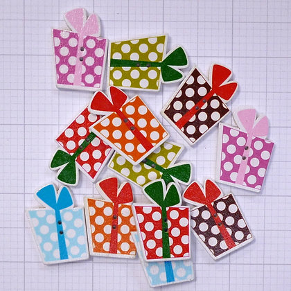 Wooden Button Pack :: Colourful Presents