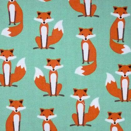 Fabric :: Fabulous Foxes :: Green
