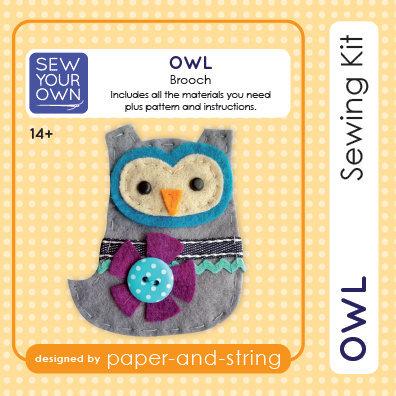 Owl Brooch Mini Kit