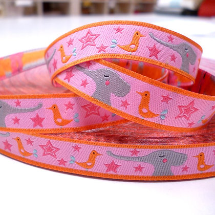 Embroidered Ribbon :: Elephants
