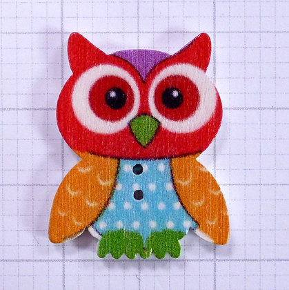 Wooden Owl Button :: Wilfred