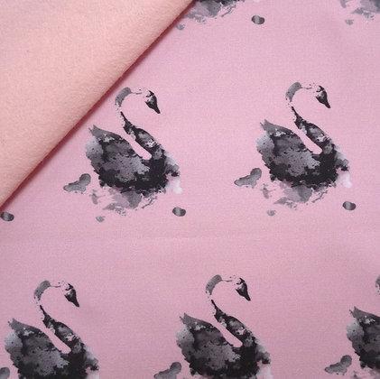 Artisan Fabric Felt :: Black Swan on Blush