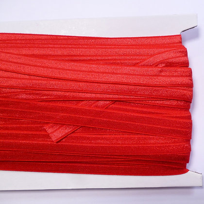 Satin Sheen Fold Over Elastic :: Red