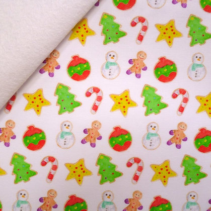 Artisan Fabric Felt :: Watercolour Christmas Cookies on white