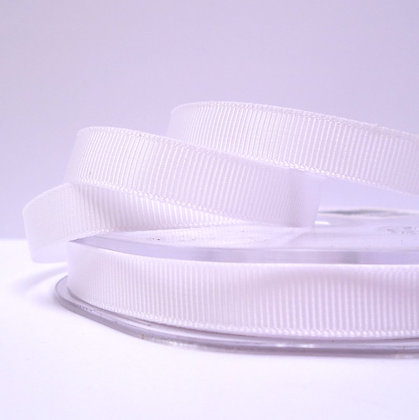 10mm grosgrain :: by the metre :: White