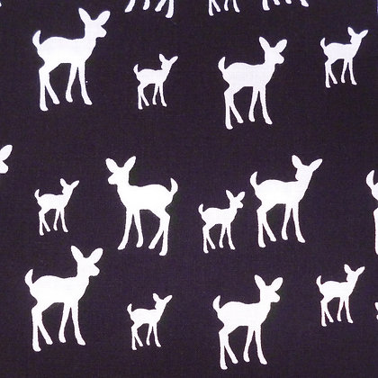 Fabric :: Copenhagen :: The Deer (Black)
