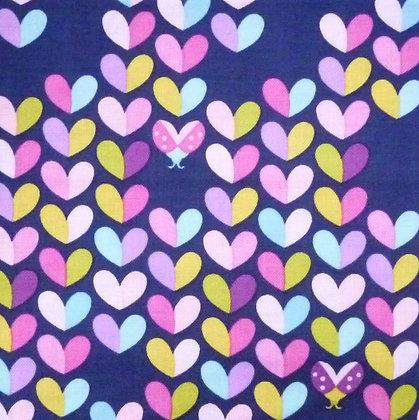 Fabric :: Love Bug Hearts on Navy
