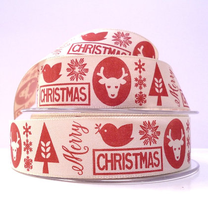 "1"" Ribbon :: Scandi Christmas Red"