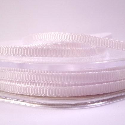 3mm Mini Grosgrain Ribbon (5 metres) :: White