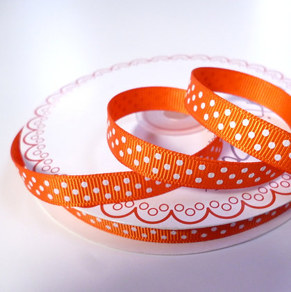 Polka Dot Grosgrain :: Orange