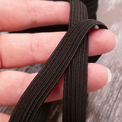 Braided Flat Elastic :: Black