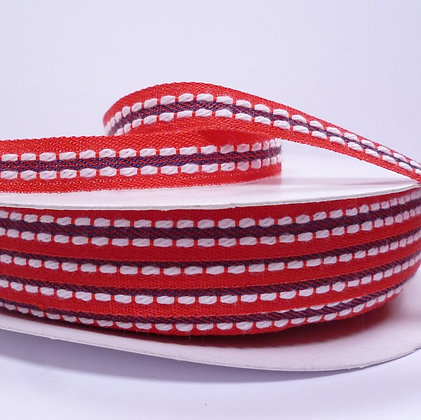 Double Stitch Ribbon :: Red