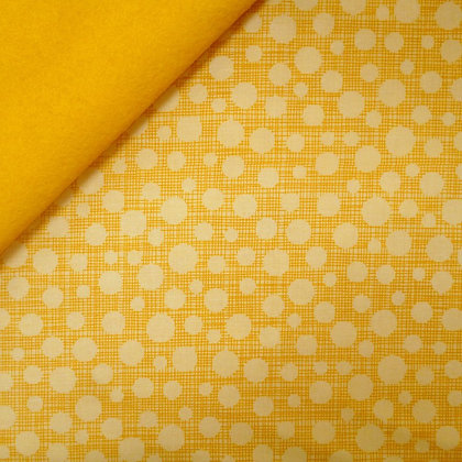 Fabric Felt :: Hash Tag Dot Yellow on Yellow