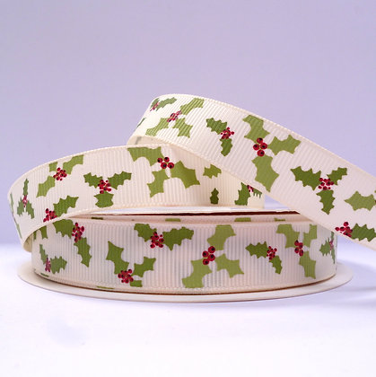 Christmas Grosgrain Ribbon :: RC Holly
