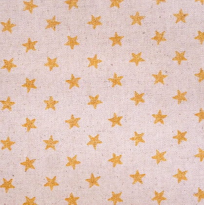 Fabric :: Cotton Linen :: Gold Glitter Stars