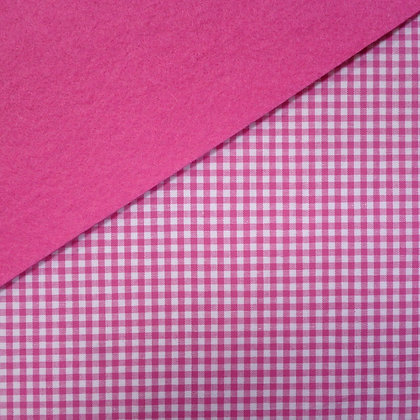 Fabric Felt :: Wide Bright Pink Gingham on Candy Pink