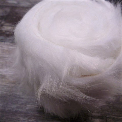 Faux Fur Fabric Mini Roll :: Deep Pile White Fur