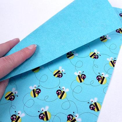 Fabric Felt :: Sunshine Day Bees & Turquoise