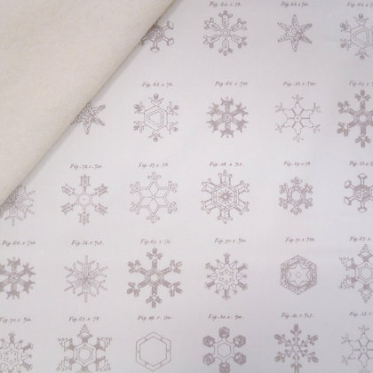 Fabric Felt :: Little Town :: Snow Crystals Frost on Natural