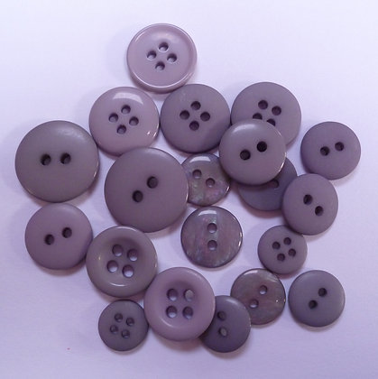 Dyed Pick & Mix Buttons :: Grey