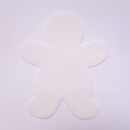Die Cut :: Gingerbread Man :: White