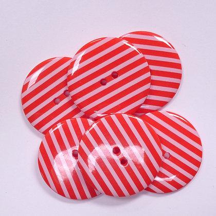XL Stripe Button :: Red