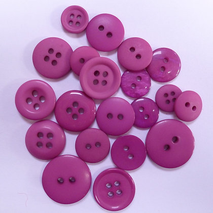 Dyed Pick & Mix Buttons :: Thistle