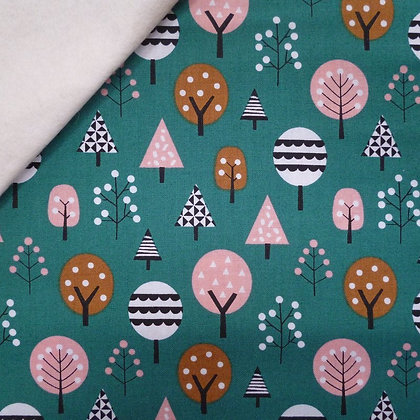 Fabric Felt :: Geo Forest :: Trees on Natural