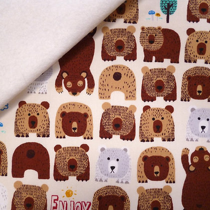 Fabric Felt :: Bears in the Woods on Natural