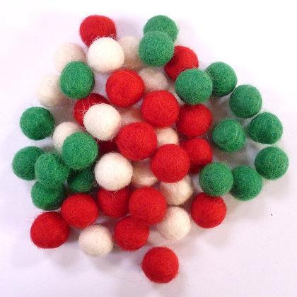 1.5cm Felt Ball Packs :: Christmas (48x 1.5cm balls)