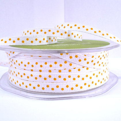 "1/4"" Polka Dot Ribbon :: Yellow"