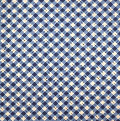 Fabric :: Diagonal Checks :: Navy