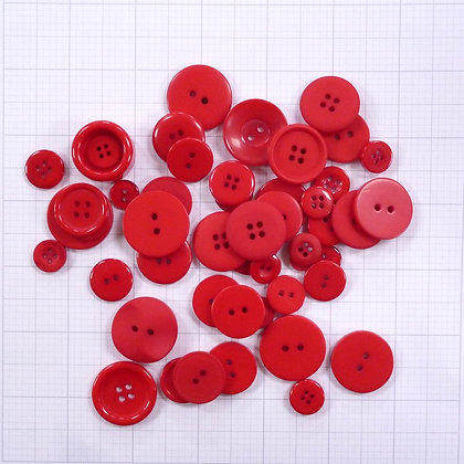 Dyed Buttons By Weight :: Red