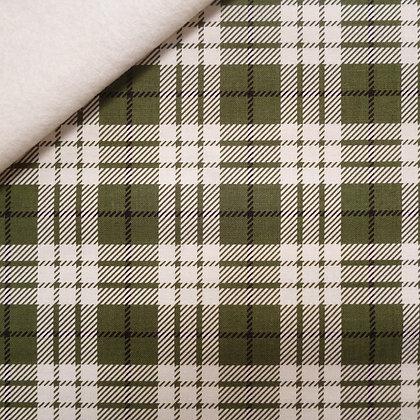 Fabric Felt :: Winterberry  :: Green Tartan on Natural