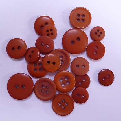 Dyed Pick & Mix Buttons :: Russet