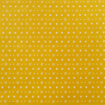 Outline Star Printed Felt Square :: Yellow