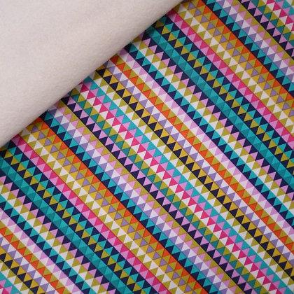 Fabric Felt :: Flower Drift Bias Tile on Natural