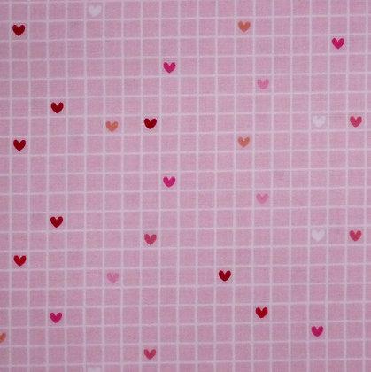 Fabric :: Love Bug :: Grid Hearts
