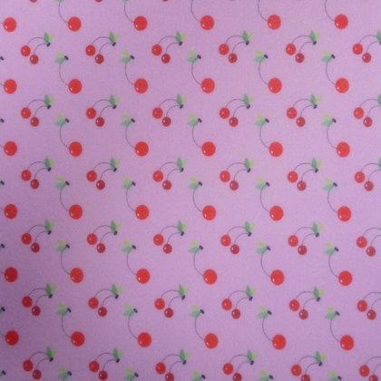 Soft Printed Felt :: Pink Cherry