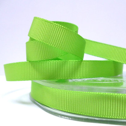 10mm grosgrain :: by the metre :: Lime