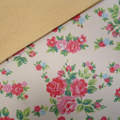 Fabric Felt :: Cream Chintz Rose on Vanilla LAST FEW