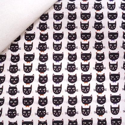 Fabric Felt :: Cats, Bats & Jacks :: Cats on Natural