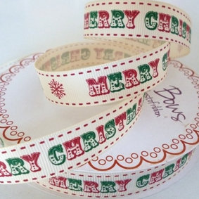 Bertie Bows Ribbon :: Red & Green Merry Christmas